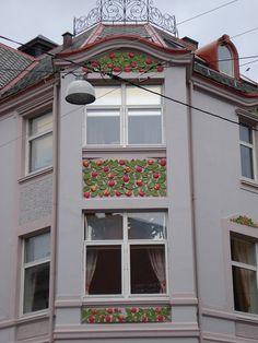 Alesund in Norway - Art Nouveau Building facade circa 1905