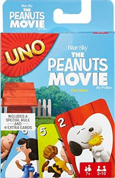 32c8695e7085 The classic game of UNO gets a twist inspired by the Peanuts gang. Themed  adaptations