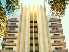 The Royal Palm South Beach oceanfront resort, just north of Ocean Drive, was  built in 1939 and retains many of its original design elements.