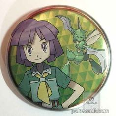 Pokemon Center 2016 Johto Badge Collection Bugsy Scyther Large Size Tin Can Badge