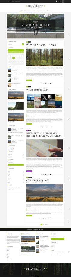 WordPress Theme Travel Blog designed and developed for travel bloggers. Theme can be used for any kind of blog. 9 post formats, 9 different layouts ...