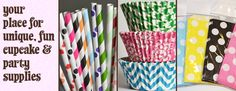 Sweets & Treats Boutique - Your place for unique, fun cupcake & party supplies! Cupcake Liners, Baking Cups, Paper Straws, Goodie Favor Party Bags - shopsweetsandtreats.com