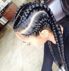 Jumbo Cornrow Style - perfect protective style for black hair!