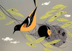 Baltimore Oriole by Charley Harper