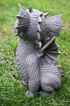 Looking At Le Haut de la Statue de dragon Figurine pour décoration de jardin: Amazon.fr: Jardin