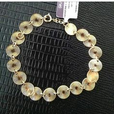 Pulseira folheada a ouro 18k Rommanel(170,00) Encomendas via direct Stylus, Charmed, Instagram, Bracelets, Jewelry, Gold Leaf, Jewlery, Style, Jewerly