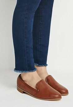 Faux Leather Loafers | Forever 21 - 2000155638