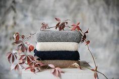 Schal für Damen in Grau, Brun, Blau Alpakawolle  von Ingugu auf DaWanda.com