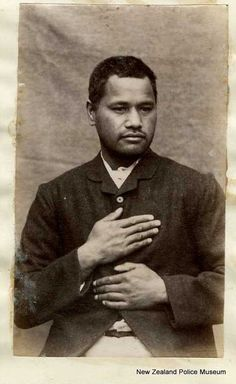 Aporo Paerata (b. 1855). Charged with murder and sentenced to death on 13 June 1887, although this sentence was later commuted to life in prison [Gisborne]. Photograph taken on 17 September 1887.