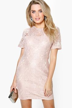 Ivy All Over Lace Shift Dress