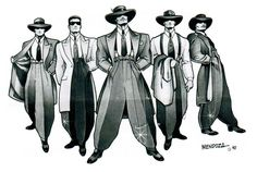 """When one thinks of a gang, images of brightly colored bandanas, tattoos, and concealable weapons come to mind. In """"Zoot Suit,"""" however, the 38th street gang prided itself on class and style. Respect and power came to those that could win a fight without messing up the """"drapes."""""""