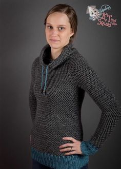 My Favorite Pullover pattern for purchase, crocheted in Lion Brand Heartland. (Try Clothes Free Pattern)The Crochet Awards 2015 Judges' Nominee - Best Sweater - My Favorite Crochet Pullover pattern by KT and the Squid Crochet Crafts, Easy Crochet, Free Crochet, Knit Crochet, Crochet Sweaters, Double Crochet, Unique Crochet, Crochet Tops, Beautiful Crochet