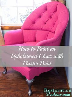 Pink Plaster Painted Vintage Chair - Restoration Redoux