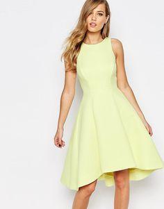 Image 1 ofCoast Postella Textured Midi Dress in Lemon