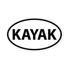 KAYAK Oval Decal on CafePress.com