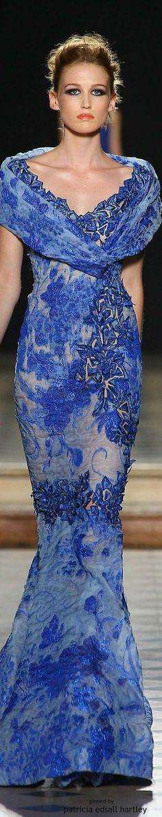 Fashion Show : Tony Ward Fall 2015 Couture Fashion Moda, Blue Fashion, Look Fashion, Fashion Show, Couture 2015, Couture Fashion, Runway Fashion, Beautiful Gowns, Beautiful Outfits
