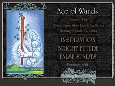 The Ace of Wands Tarot Card Meanings