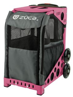 Zuca rolling Pet carrier (pink frame/charcoal bag) >>> Want to know more, click on the image. (This is an affiliate link and I receive a commission for the sales) #MyDog