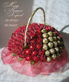 Gallery.ru / Фото #101 - Корзины с цветами и конфетами 400-1000 грн. - monier