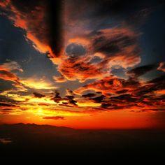 Sunset at work