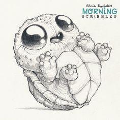Turtle tot#morningscribbles | by CHRIS RYNIAK