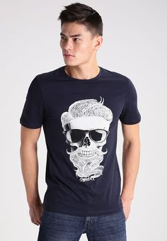 Jack & Jones JORNEW STROUD SLIM FIT - T-shirt z nadrukiem - total eclipse