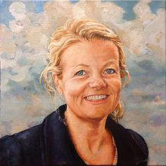 """Birgitte Espeland"" Oil on canvas Order similar portrait by Elin Eriksen here. Portrait Art, Portraits, Oil On Canvas, Mona Lisa, Artwork, Artist, Inspiration, Image, Biblical Inspiration"
