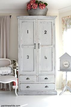 Shabby French Country Farmhouse Hutch
