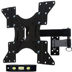 "VideoSecu LCD TV Wall Mount Long Arm Extension up to 20"" Mount Bracket Fits most 23""-46"" LCD TV and display with Removable Mount Adaptor Plate (black) 1VP (Personal Computers)"