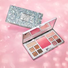 Celebrate being an IT Girl every day with this limited-edition, life-changing palette for eyes and cheeks! Developed with plastic surgeons and infused with anti-aging hydrolyzed collagen, silk and antioxidants, your IT Girl Palette contains 10 universally flattering, long-wearing matte and radiant eyeshadows, plus a one-of-a-kind ombré pink blush. While the talc-free, lid-loving eyeshadows effortlessly glide on to make your eyes come alive, the game-changing blush blurs the look of pores!