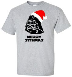 Darth Vader Merry Sithmas - Star Wars T Shirt - Darth Vader In Santa Hat - Christmas T Shirt Disney - Adult Unisex Gildan - Episode 7 - DVMS by IsawThatOnPinterest (20.95 USD)