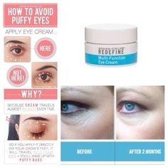 Great tips on where to put your eye cream.  If you would like to order some redefine Rodan and fields eye cream, message me or go directly to my website at http:/ kitaliano.myrandf.com. Kimital1108@gmail.com.