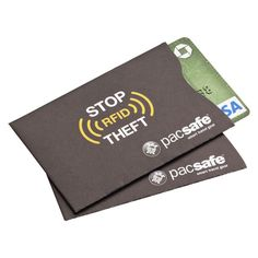 RFID Credit Card Sleeve  Keep your credit and bank cards safe from potential identity thieves with our RFID Credit Card Sleeve. These special sleeves are designed to prevent thieves from being able to remotely scan the digital information stored on your credit and bank cards.