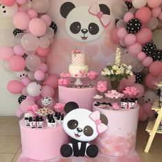 The Amazing Balloon Decorator in Lucknow Events Bucket Panda Themed Party, Panda Birthday Party, Panda Party, Bear Party, Birthday Parties, Baby Birthday Themes, Baby Shower Niño, Baby Shower Themes, Baby Shower Decorations