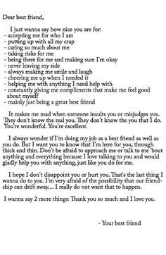 bff best friend letters that make you cry Best Friend Texts, Best Friend Captions, Guy Best Friend Gifts, To My Best Friend, Birthday Quotes For Best Friend, Happy Birthday Quotes, Best Friend Birthday Letter, Boy Best Friend Quotes, Friend Sayings