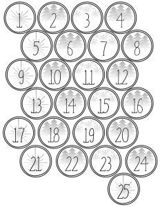photograph regarding Free Printable Advent Calendar Template identify Xmas Arrival Calendar Printable Figures Xmas