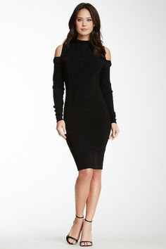 Cold Shoulder Ribbed Dress by Rachel Roy on @HauteLook