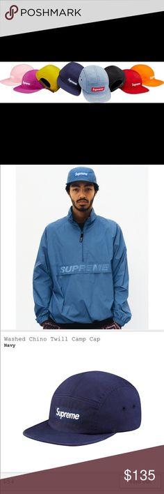 4866b58cb51 SS17 Supreme Box Logo Washed Chino Twill Camp Cap Supreme Chino Twill Camp  Cap • S
