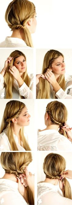 This is perfect for girls that love to keep their hair up but still wants to do something to it