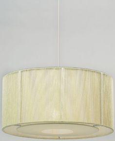 Cream Lined Cream String Pendant Lamp Shade