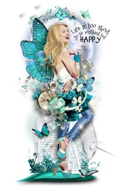 Be Happy and Free Butterfly Fairy, New Beginnings, Polyvore, Doll, Disney Princess, Disney Characters, Happy, Pictures, Free