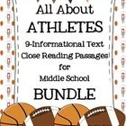 This 35-page NO PREP Close Reading Informational Text BUNDLE is the perfect reading tool for your upper elementary or middle school students working on improving reading strategies through high-interest text and text-based questions.