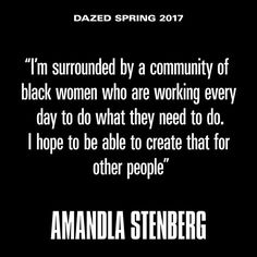 As she enters adulthood @amandlastenberg is taking conversations about revolution offline and changing their course by inserting herself into cultural spaces where people like her still arent seen. Tap the link in our bio to read more. Taken from the spring 2017 issue of Dazed on sale this Thursday 16th February.  via DAZED AND CONFUSED MAGAZINE OFFICIAL INSTAGRAM - Fashion  Culture  Advertising  Editorial Photography  Art  Music  Film