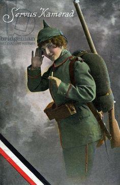Hello Comrade, 1915 (colour litho)