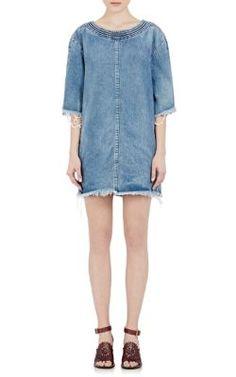 Chloé Fringe Denim Dress at Barneys New York