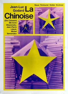 "MP897. ""La Chinoise"" German Movie Poster by Hans Hillmann (Jean-Luc Godard 1967) / #Movieposter"