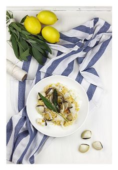 Lemon & sage risotto with bacalhau and clams  http://zucchini-blues.blogspot.com/2015/10/cytrynowe-risotto-z-bacalhau-i-vongolami.html