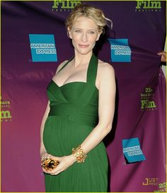 Cate Blanchett pregnant, so beautiful Mommy, Jan 2008