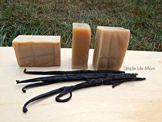 Creamy Vanilla Homemade Soap Bar - Handmade, Great Gift, Cold Process Soap, Organic, Natural