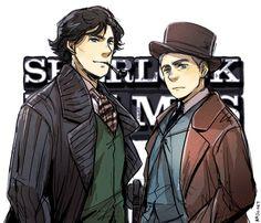 Sherlock BBC in Victorian Style